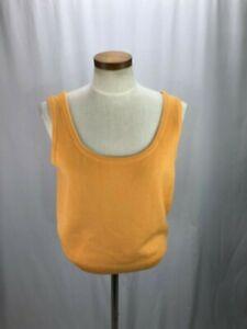 St-John-Women-039-s-Orange-Scoop-Neck-Tank-S