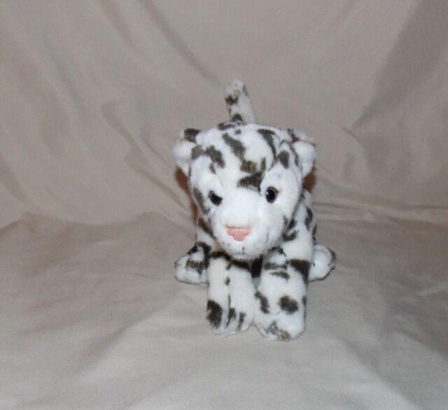 Toys R Us Animal Alley Snow Leopard Stuffed Plush 10 Brown White Ebay