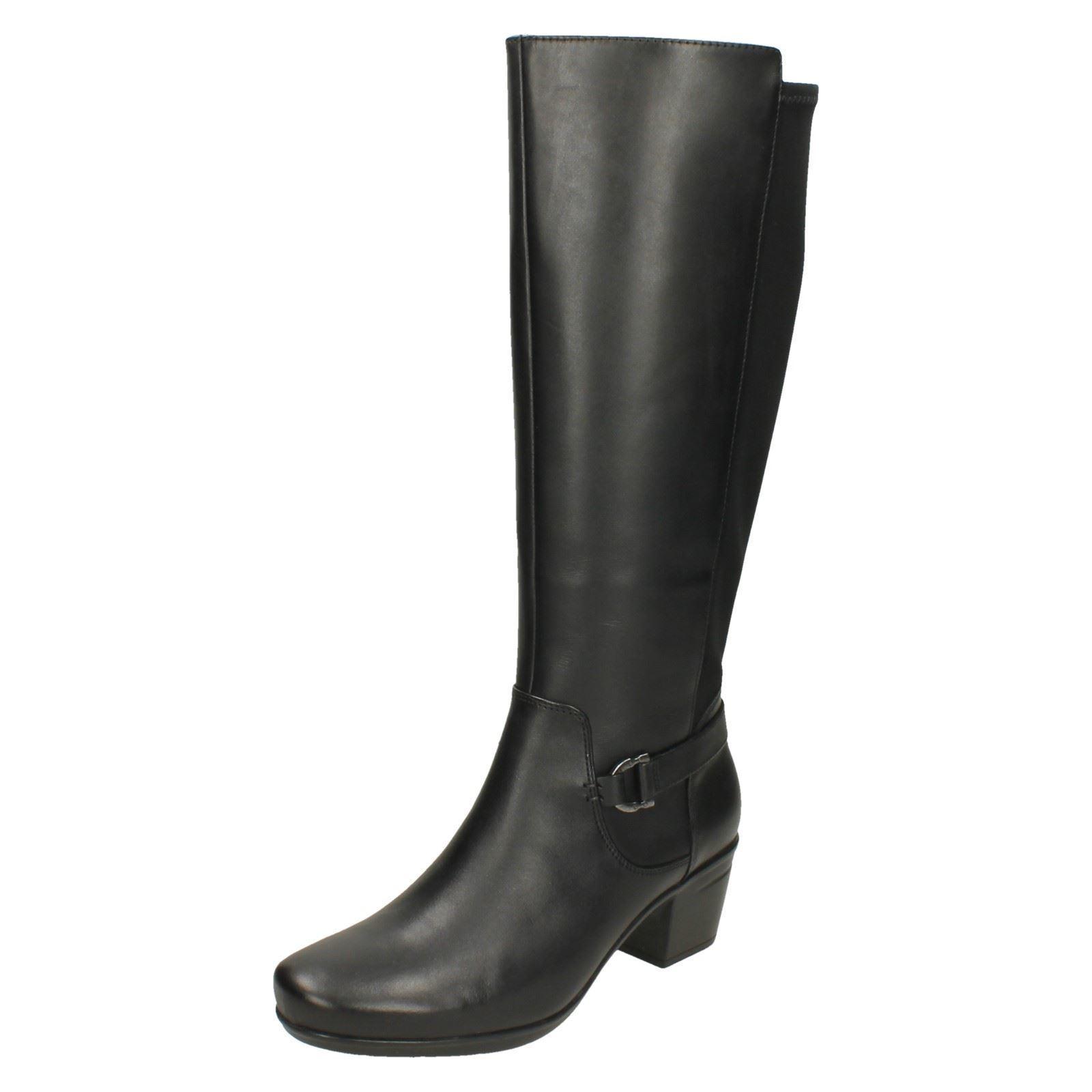 Ladies Clarks Heeled Knee High Boots  Emslie March