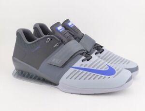 2cf0e562d La imagen se está cargando Nike-Romaleos-3-Halterofilia-Crossfit-Zapatillas -Deportivas-Gris-