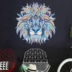 Blue-Lion-Head-Wall-Art-Stickers-Kids-Nursery-Decor-Removable-Vinyl-Decal-Gift