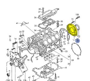 AUDI / VW 1998-06 4.2L V8 REAR ENGINE SEALING FLANGE WITHOUT SEAL  077103171N | eBay | Audi A8 4 2l V8 Engine Diagram |  | eBay