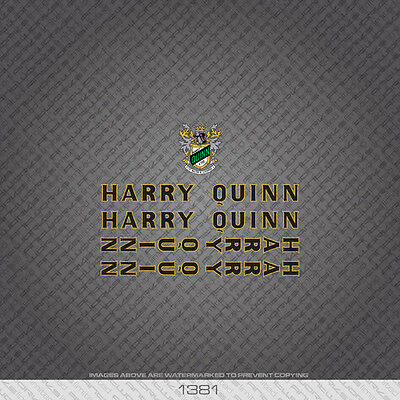 Transfers Decals 07130 Harry Quinn Bicycle Head Badge Stickers
