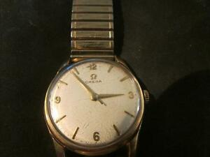 85ec43ecd201 Image is loading Fabulous-Mens-Rare-Vintage-Omega-9ct-Gold-Watch-