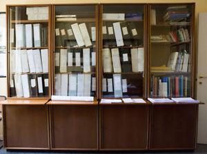 Libreria Per Ufficio : Osvaldo borsani tecno libreria per ufficio in palissandro moduli