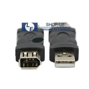 NEW Firewire IEEE 1394 6 Pin Female F to USB M male Adaptor ...