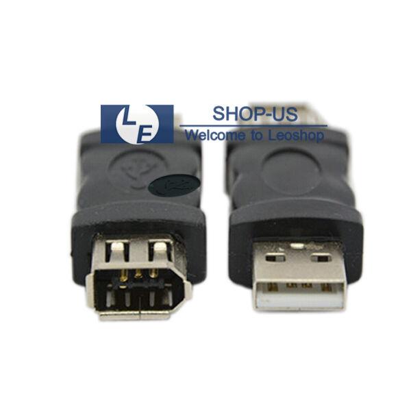 Firewire IEEE 1394 6 Pin Female F to USB M male Adaptor Converter | eBay
