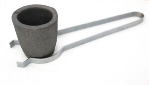 Clay-Graphite-Crucible-Cup-For-Furnace-Torch-Melting-With-Flask-Tongs