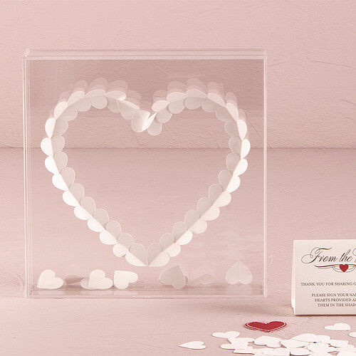 From The Heart Transparent Acrylic Wedding Shadow Box