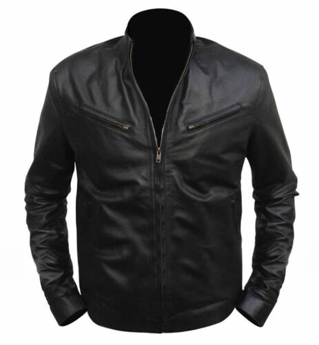 Men/'s Fast And Furious 6 Vin Diesal Genuine Real Leather Jacket