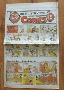 Vtg-July-25-1965-Full-Page-Comics-Blondie-Donald-Duck-Lone-Ranger-Flash-Gordon