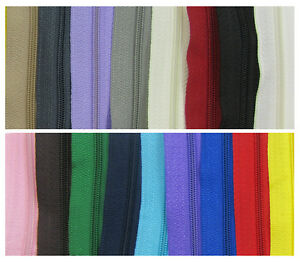 CONTINUOUS-ZIP-amp-SLIDERS-No-3-19-COLOURS-ZIPPER-CUSHIONS-HABERDASHERY1-or-5-M