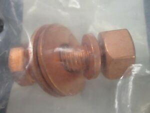 Copper-Coated-Grounding-Bolt-1-2-034-13-X-1-1-2-034-Ft-LOT-OF-5