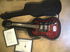 All 5 * ROLLING STONES Signed * Pre-1997 GIBSON SG Style CHERRY Electric Guitar