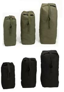 c514d7bf8dc7 Image is loading Heavyweight-Top-Load-Canvas-Duffle-Bag-Military-Army