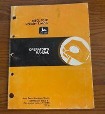 John Deere 455g 555g Crawler Loader Operators Manual Omt147305 Issue B3