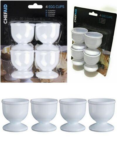 4 x White Egg Cups Egg holders Soldier Eggs Breakfast kitchen Gadget