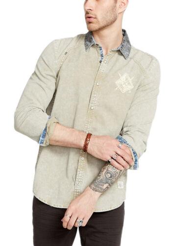 Buffalo David Bitton Men/'s Rusk Simogen Button-up Shirt BM19480 $69 NEW