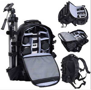 Large-DSLR-SLR-Deluxe-Camera-Backpack-Rucksack-Bag-Case-For-Nikon-Sony-Canon-US