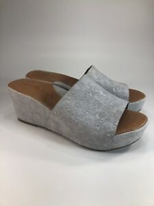 1a80ec48888 Gentle Souls NEW  199 Forella Floral Suede Cork Wedges Womens Size ...