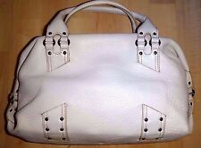 "$260 COLE HAAN 'Village' Large White Leather Slouchy 9"" x 13"" Handbag"