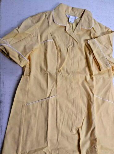 Alexandra Work Wear Lemon Short Sleeve Tunic Dress Nurse Carer Cleaner  BNIP