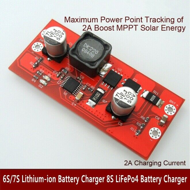SD30CRMA 9//12//18V MPPT Solar Controller 1A Lithium ion LiFePO4 Battery Charger