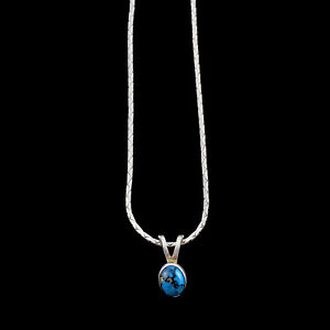 Small-Oval-Shaped-Turquoise-Stone-Pendant-Sterling-Silver-Necklace