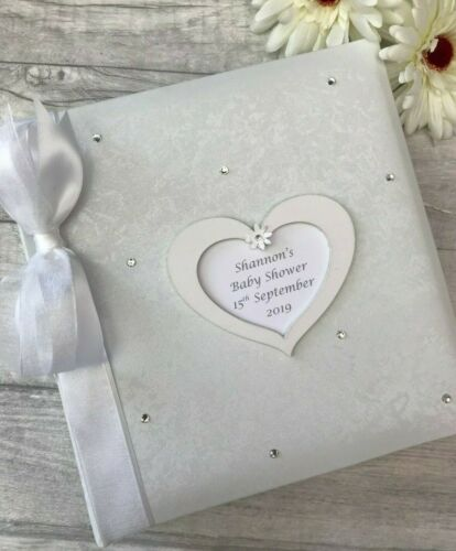 Personalised Traditional Baby Shower Photo Album Gift 200 6x4 Photos