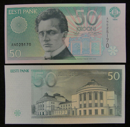ESTONIA Paper Money 50 Krooni 1994 UNC