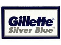 60 Gillette Silver Blue Double Edge Razor Blades