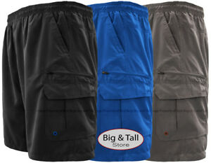 Big-amp-Tall-Men-s-Solid-Cargo-Swim-Trunks-by-H2O-Sport-Tech-2XL-8XL