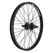 "BLACK 20/"" bmx bike REAR wheel Alex Y303 48H Alloy 14mm axle BLACK REAR WHEEL NEW"