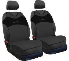 2 x Car seat covers pair for front seats grey vest shape
