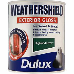 Amazing Image Is Loading Dulux Highland Green Weathershield Exterior Gloss Paint 0