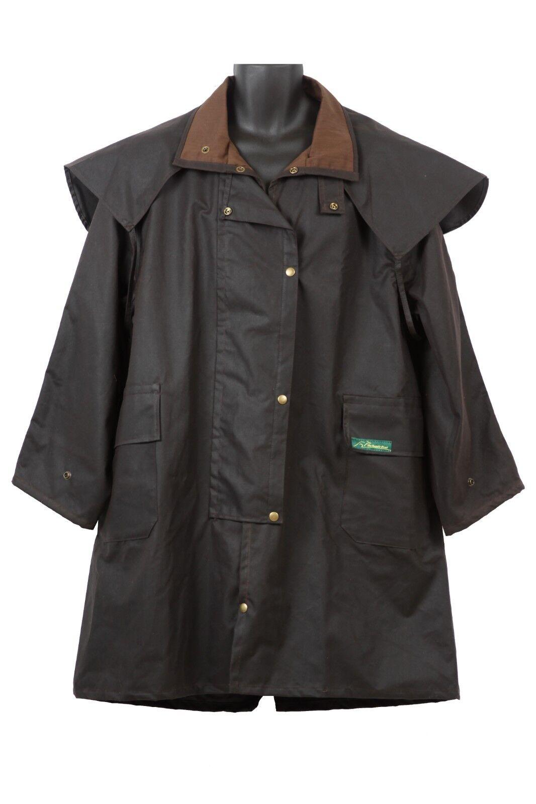 Australian Made Oilskin Coat Dimensiones 3XS to 8XL knee length