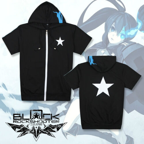Summer Pullover Hoodie Anime Black Rock Shooter Hooded Jacket Casual Coat Cotton