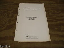 1989 Ford C-series truck C8000 wiring diagram schematic SHEET service manual