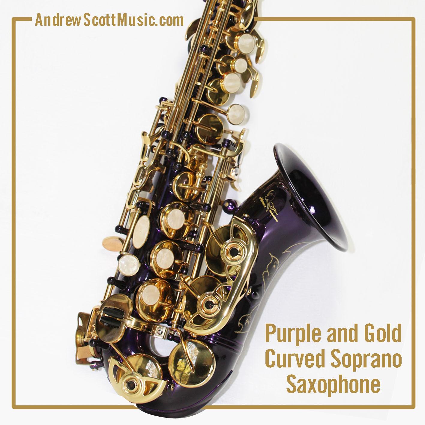 Curved Soprano Saxophon, lila - Meisterstück