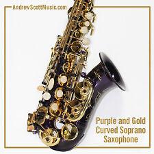 Curved Soprano Saxophone, Purple - Masterpiece
