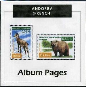 Andorra FR- SP CD-Rom Stamp Album 1931-2016 Color Illustrated Album Pages