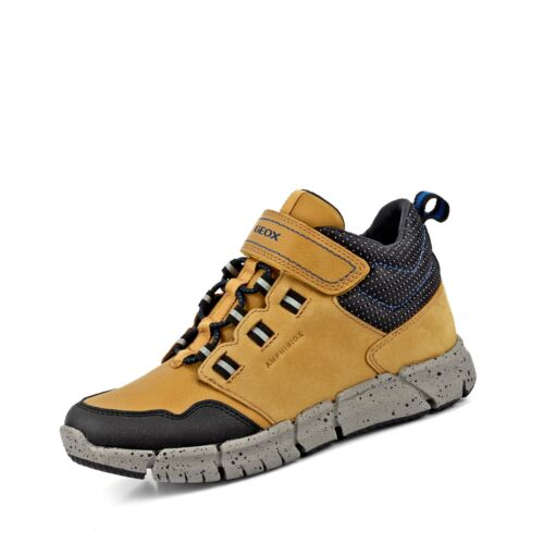 Geox Flexyper wasserdichter Kinder Jungen Boots Winterstiefeletten Schuhe honig