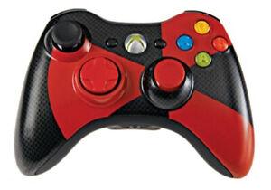Microsoft-Xbox-360-Wireless-Controller-Red-Black-Radioactive-Gamestop-Exclusive