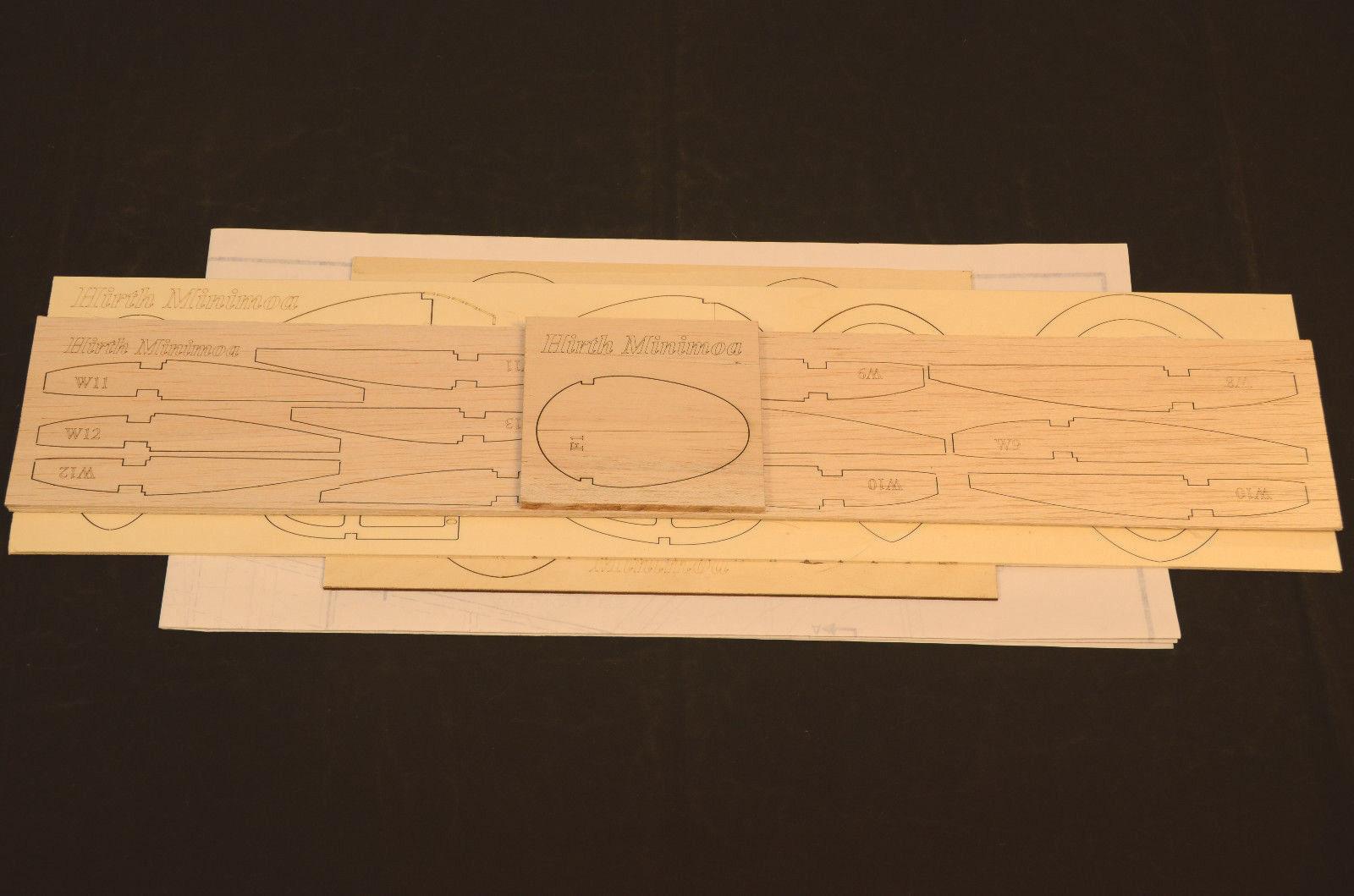 1 6 Escala Hirth Minimoa Corte Láser Kit, Planes & Instrucción 105  Ws Planeador
