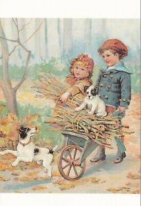 Collecting-Firewood-from-Dogs-Postcard-unused-VGC