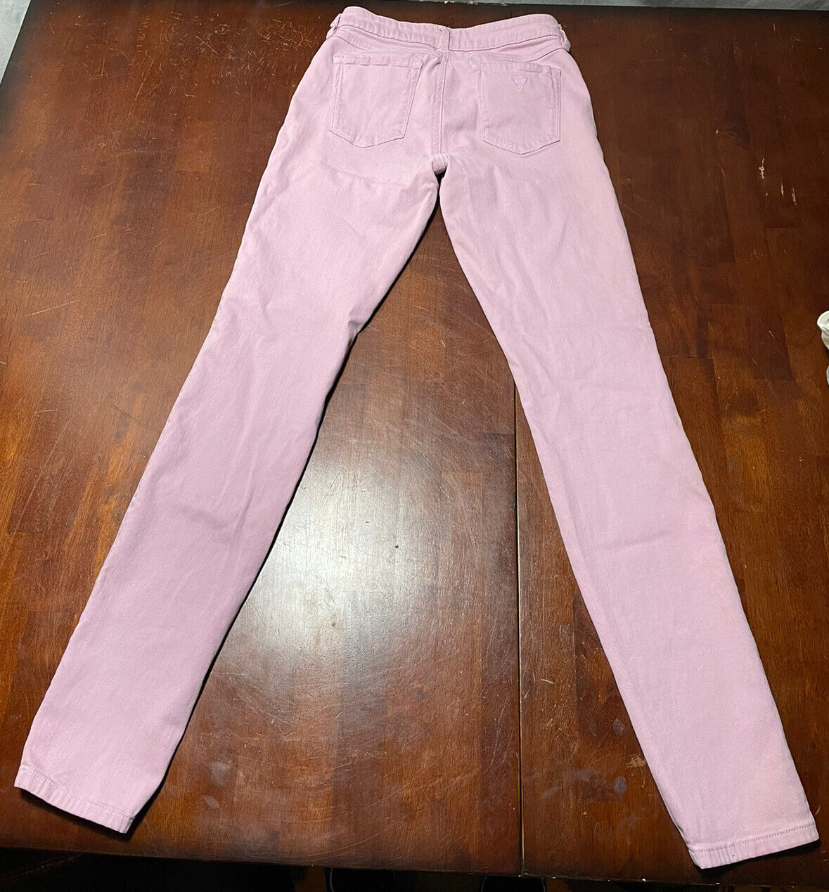 Womens Guess Britney Skinny Jeans Pink Size 27  - image 2