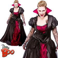 Vampiro Regina UK 22-24 onorevoli Costume Halloween PLUS SIZE VAMPIRESS Costume