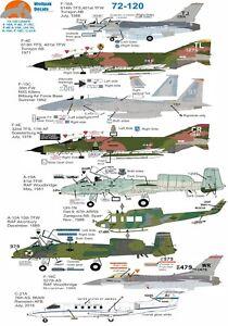 Wolfpak-Decals-72-120-USAFE-F16-Falcon-McDonnell-Douglas-F-4-Phantom-F15-Eagle