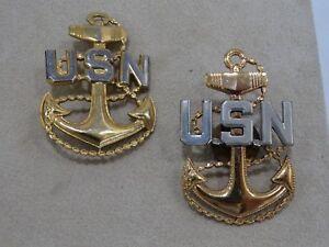 Wonderful Image Is Loading Vintage US Navy Sterling Anchor Pins 2 Vanguard