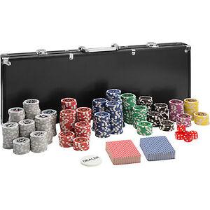 Pokerkoffer-Pokerset-500-Chips-Laser-Pokerchips-Poker-Set-Jetons-Alu-Koffer-Schw